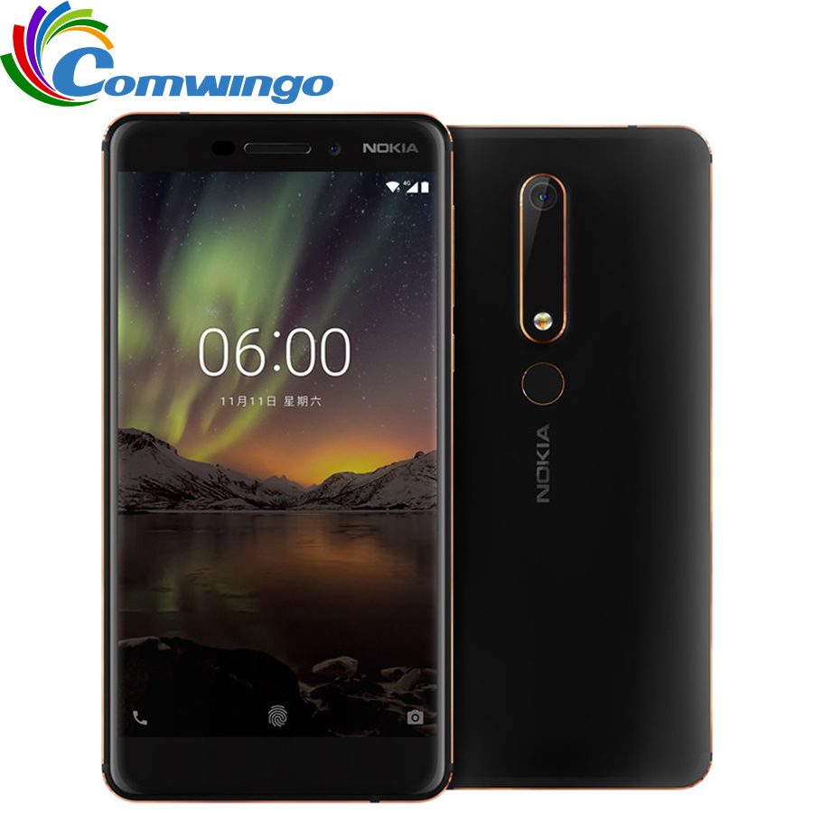 2018 Nokia 6 TA 1054 Ram 4G Rom 64G Android 8 Snapdragon 630 Octa core 5