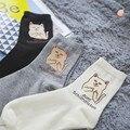 Ripndip mujeres señor nermal bad cat calcetines de las mujeres 2016 otoño nueva Llegada 100% Calcetines de Algodón de Dibujos Animados Calcetines Medias de 3 Colores venta al por mayor