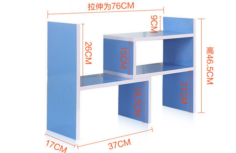 Eco-friendly Small Bookcases Desk bookshelf Office bookcase Portable shelf Three kinds of modeling