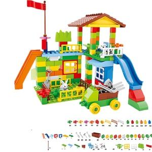 Image 4 - Große Größe Bausteine Amusement Park DIY Kompatibel Duploed Ziegel Montage Ziegel Bau Gebäude Spielzeug Für Kinder