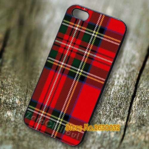 Plaid Red font b Tartan b font fashion cell phone protection case cover for iphone 4