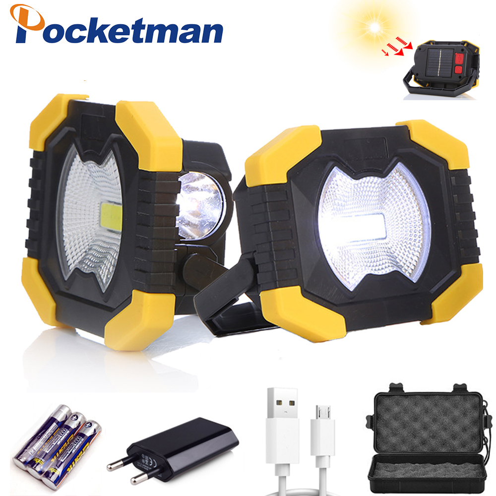 Portable Work Light 2400mAh Battery Solar Energy Light Tent Lantern USB Rechargeable   Searchlight For Hunting Camping Latern