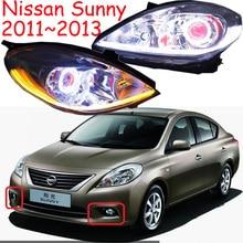 Słoneczny reflektor, 2011 ~ 2013/2014 ~ 2017, słoneczne światła przeciwmgielne, światła do HID xenon, Versa, Sentra, 2 sztuk, słoneczne tylne światło, akcesoria samochodowe, słoneczne głowy światła