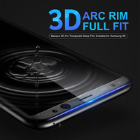 Baseus 3D Arc Protective Flim Tempered Glass For Samsung S8 Full Screen Protector Film For Samsung
