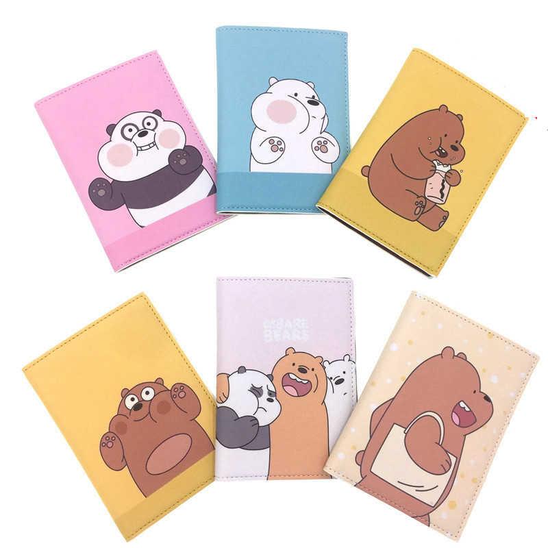Мультфильм животных три медведя Обложка для паспорта Кошельки сумка аксессуары, из искусственной кожи, держатель для ID, адреса, ярлык на переносной багаж на борт