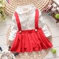 Nueva Colección Baby Girl Marino/rojo Superior Marinero Cordón Del Recién Nacido a 24 Meses