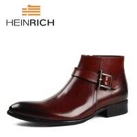 HEINRICH/мужские ботинки челси; ботильоны; сезон осень зима; повседневная обувь из натуральной кожи; мужские ботинки; Coturnos Masculino Militar