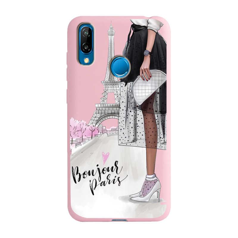 ファッション高ヒールセクシーな女性ソフトピンクシリコーン電話ケース Huawei 社 P30 Lite P30 プロ P20 Lite P20 p20 プロ小箱 Capa