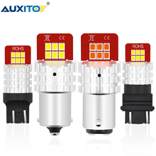 AUXITO 1400LM BA15S 1156 P21W LED Bulb Car Reverse Lights 7443 W21/5W 7440 WY21W 1157 BAY15D 3157 LED Turn Signal Brake Lights 2x car led 1156 p21w ba15s 1157 3156 3157 7440 7443 led bulbs turn signal brake light reverse lamp 1206 22 smd auto tail lights