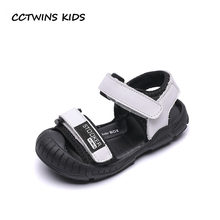 CCTWINS Kids Shoes 2019 Summer Girls Casual Beach Sandals Babys Genuine  Leather Flat Boys Fashion Black Shoes Child BS054 d23e10ded92b