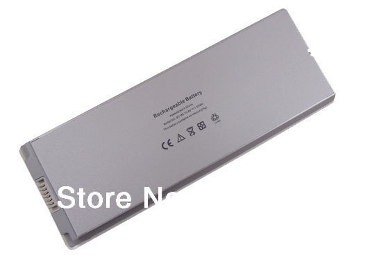 "DC 10.8V 55WH White Universal Laptop Battery for Apple 13"" MacBook A1185 A1181 MA254 MA255 Free Shipping"