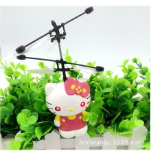 Flying fairy hello kitty RC Helicopter Remote Control suspended cute Intellisense Aircraft LED light baby toys