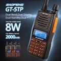 Baofeng GT-5TP Tri-Power 1/4/8W Dual Band VHF/UHF 136-174/400-520MHz Two-Way Radio Ham Walkie Talkie Transceiver Dual PTT