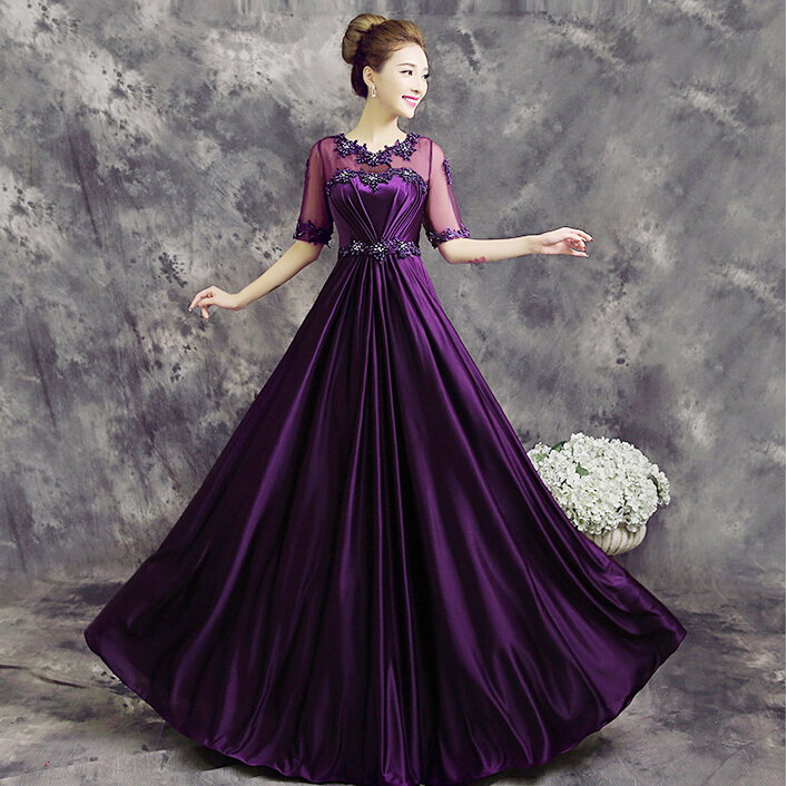 Purple Women Formal Ladies Fashionable Special Occasion