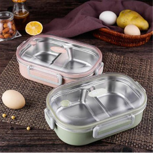 304 Stainless Steel Thermos Lunch Box for Kids Gray Bag Set Bento Box Leakproof Japanese Style Food Container Thermal Lunchbox