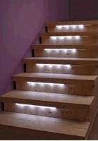 14pcs Abs Battery Led Torch Emergency Light With Vibration Sensor White Color Automatically Intelligent Wooden Stair