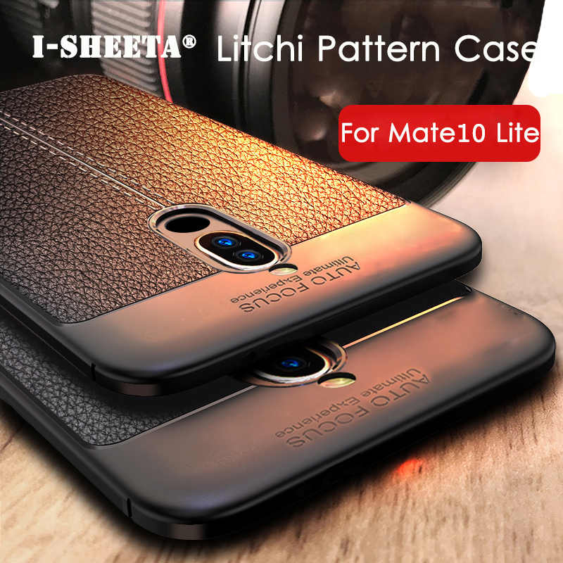 Shockproof For Capa Huawei Mate 10 20 Lite Case Soft Leather Litchi Pattern TPU Silicone Rugged Case For Huawei Mate 20 Pro