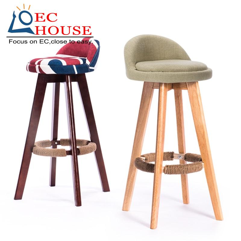 simple retro nordic creative rotating bar stool desk chair bag mail free