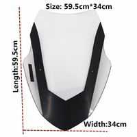 Modified Motorcycle Windshield scooter WindScreen Brown Wind Deflectors for Yamaha 16 18 NMAX155 NMAX 155 Steel solidification