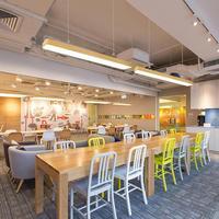 Современный офис освещения светодио дный висячие провода лампы лески полосы света творческий простой древесины потолочные проекта подвес