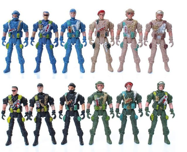 classic 10pcs realistic military soldiers toys for kids children s