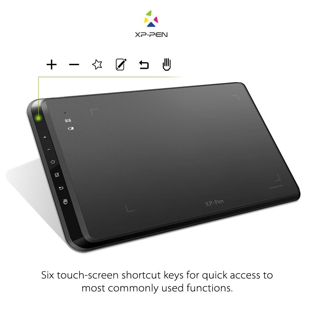 XP-Stylo Star05 Sans Fil 2.4G Graphique Dessin Tablet/Pad Peinture Conseil avec Tactile Touches de Raccourci et Batterie-livraison Passive Stylus