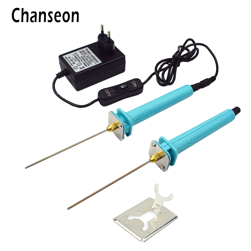 цена Chanseon EU Plug 15W Foam Cutter Electric Cutting Machine Pen Tools Kit DIY Polystyrene Machine Pen Styrofoam Cutting Tools