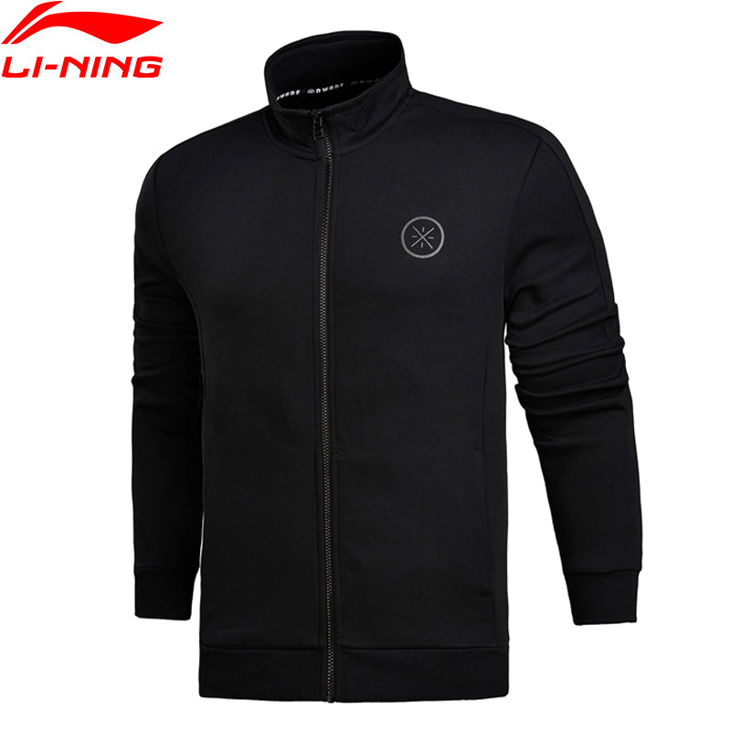Li-Ning Men Wade Series Knit Top Sweater 96% Cotton 4% Spandex Regular Fit Comfort LiNing Sports Coat AWDM683 MWW1339 ...
