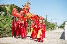7.9M na 8 rozmiar dziecięcy chiński smok taniec jedwabny festiwal uroczystości kostium 8 dzieci do zabawy kostium imprezowy etap prop