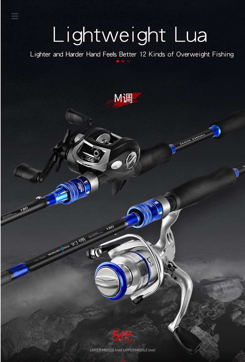 Bag Fishing Tackle Rod Double Three Layer White Gray Spinning Casting Sea River