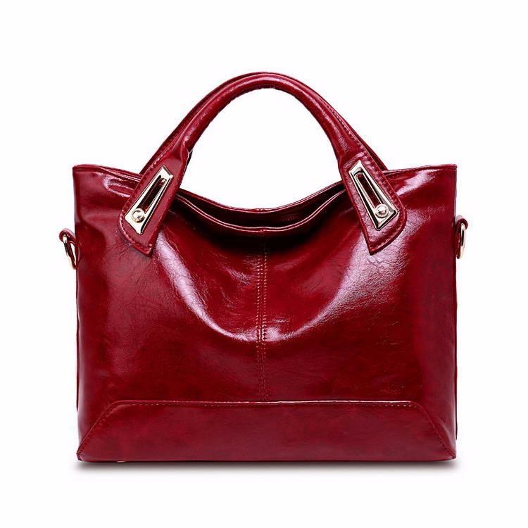 Women Oil Wax Leather Designer Handbags High Quality Shoulder Bags Ladies Handbags Fashion brand PU leather women bags WLHB1398 12