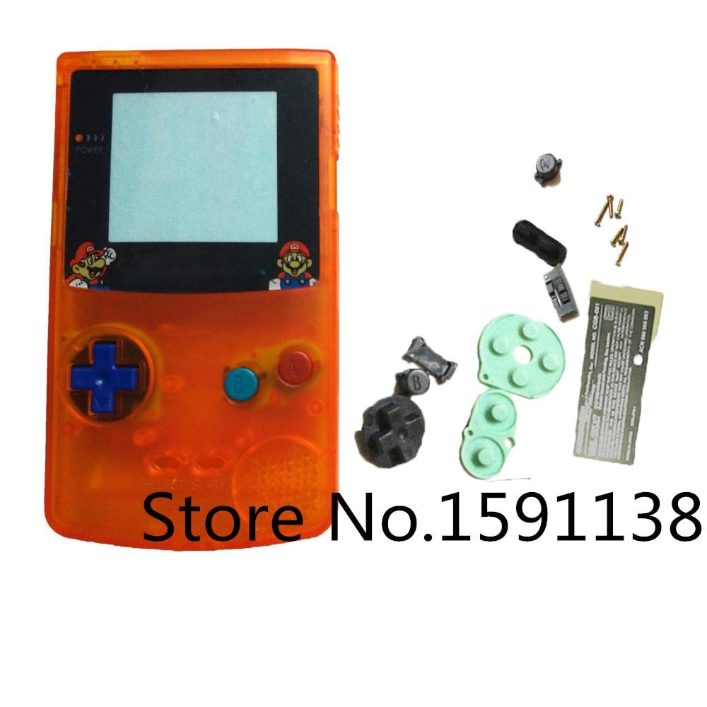 game boy color giochi : Brand New 1 Pz Lotto Chiaro Arancione Colore Housing Fai Da Te Pulsanti Di Colore Per Caso Della Copertura Gameboy Color Game Di