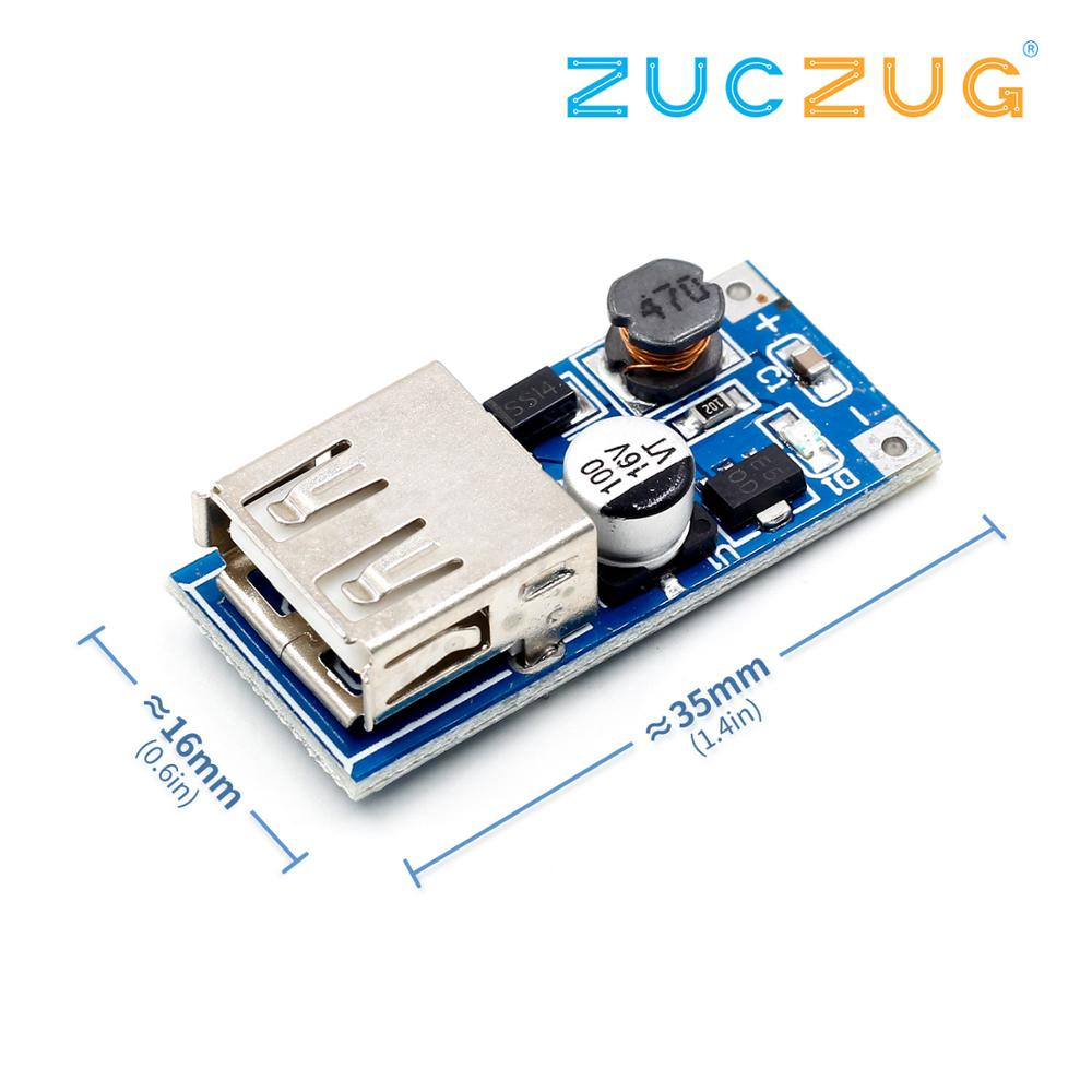 DC-DC Boost Module (0.9V ~ 5V) 600mA Boost Converter Step Up Module USB Mobile Power Boost Board TP4056 18650 image