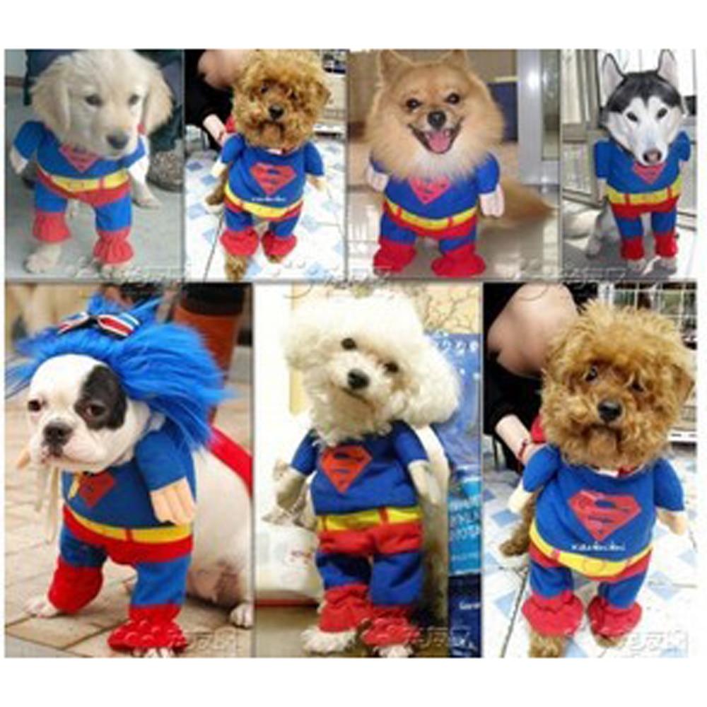 Dog Clothes Pet Products Cute Soft Cotton Superman Dog