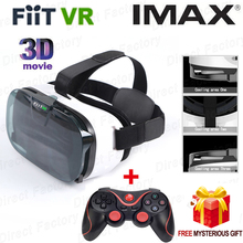 "NUEVA 2N FIIT VR Realidad Virtual Gafas 3D HD google cartón para 4.0 a 6.5 ""teléfono caja de vr vr parque + bluetooth wireless gamepad"