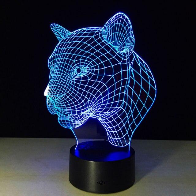3d Lumière Déco Led Charge Usb Lampe De Table Chambre Salon Chambre
