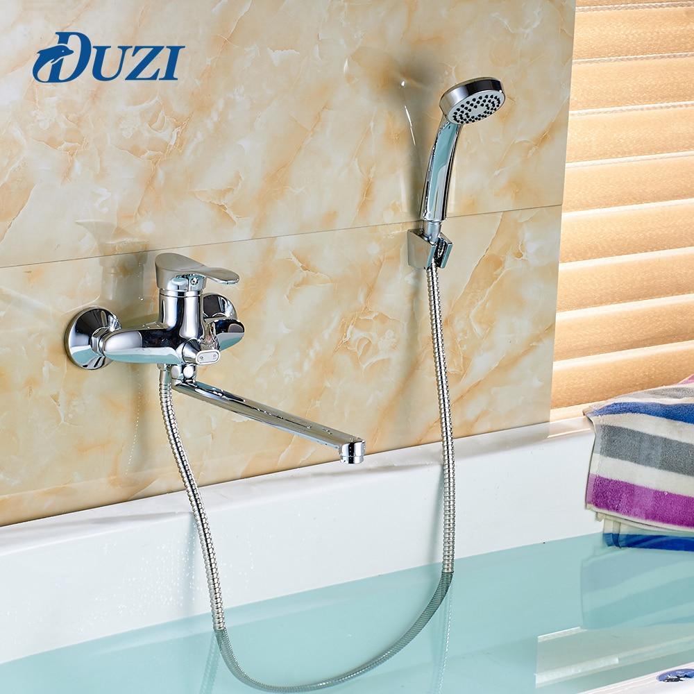 Duzi смеситель для душа Ванная комната кран двойной Управление Настенные Латунь Ванная комната кран Для ванной кран смесителя с ручным душ …