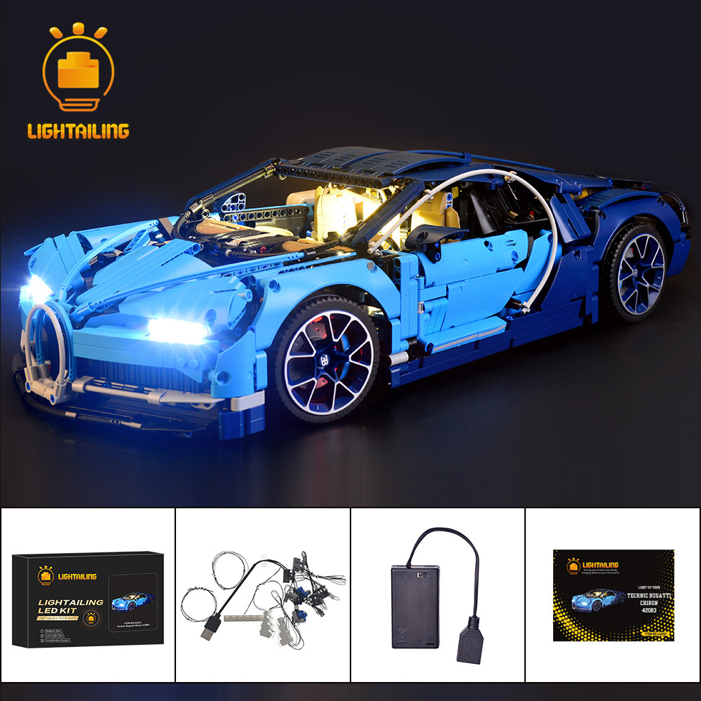 LIGHTAILING LED Light Kit For Technic Series Chiron Toys Building blocks light set Compatible With Bugatti