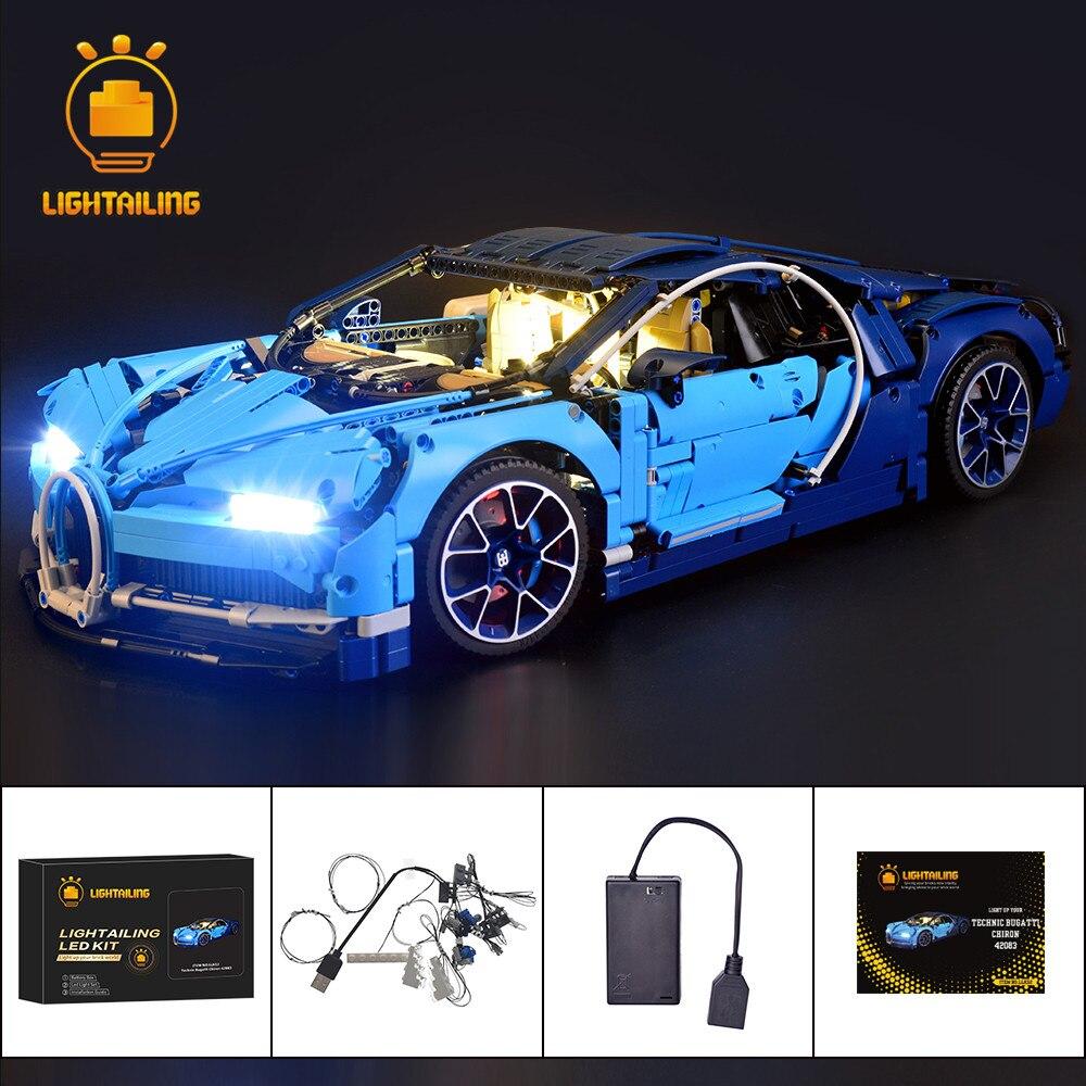 Kit d'éclairage LED d'éclairage pour la série Technic Chiron jouets jeu de blocs de construction Compatible avec Bugatti 42083