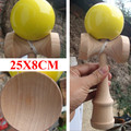Большой размер Профессиональный джамбо kendama диаметр 8 СМ деревянный меч мяч Игрушка Жонглирование Мячом Игрушки Игры Подарок Для Детей Взрослых