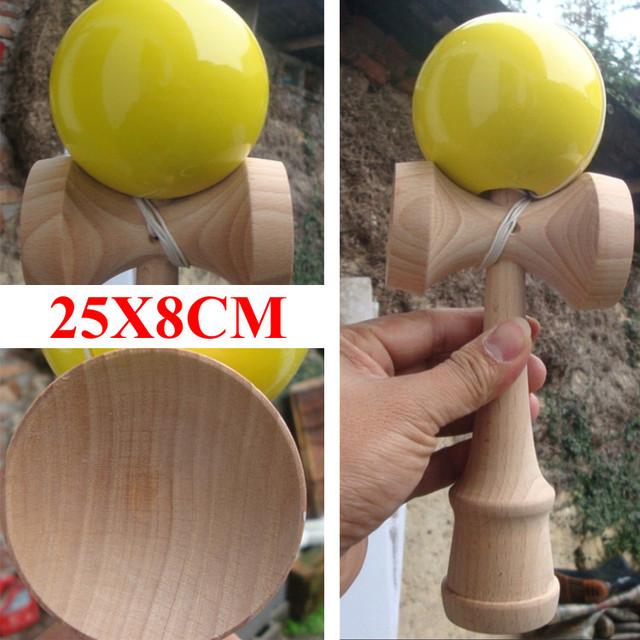 Tamanho grande profissional jumbo kendama esferas de diâmetro 8 CM madeira espada de brinquedo brinquedo de presente para crianças adulto