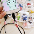 NEW 1PC Cute Lovely Cartoon Cable Protector de cabo USB Cable Winder Cover Case For IPhone 5 5s 6 6s 7 7s plus cable Protect
