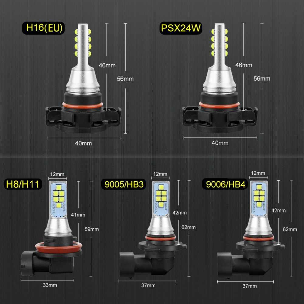 S&D 2pcs LED Fog Bulbs H11 H8 H16 LED Car Light HB3/9005 9006/HB4 5202 PSX24W LED Cars Front Light Auto Lamp 12V 24V