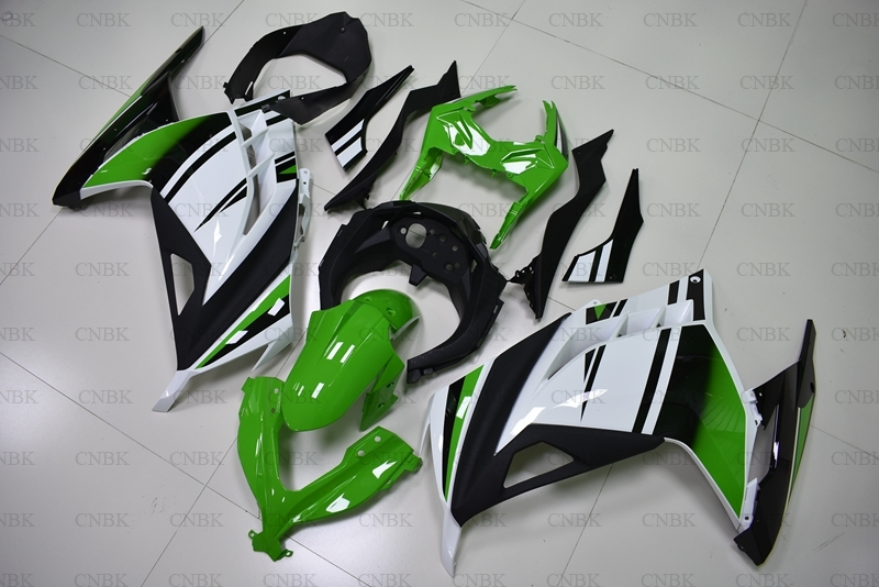 for EX300 2013 2017 Abs Fairing EX300 2014 White Green Black Bodywork EX 300 Ninja 2013