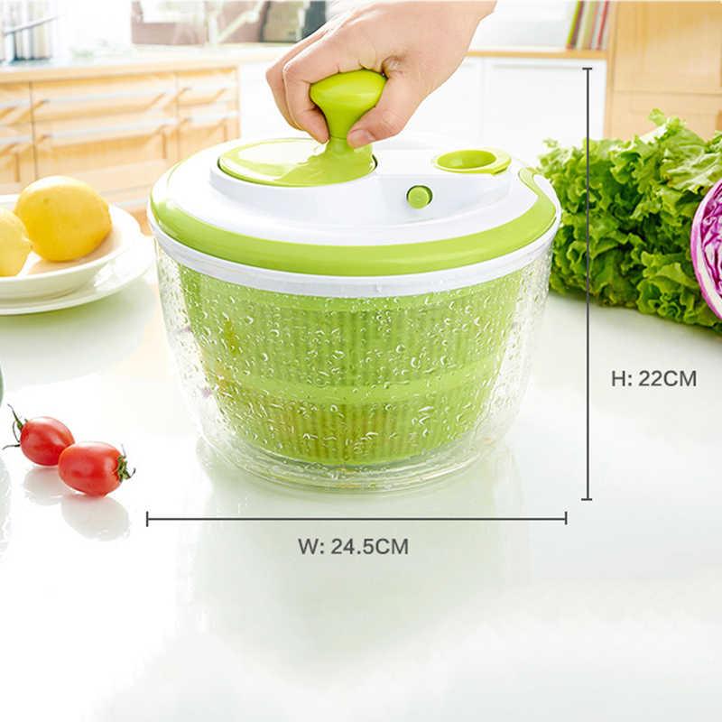 OLIYA Salad Spinner Manual Fruit Vegetables Dehydrator Dryer Cleaner Press Water Tool Fruits Salad Lettuce Strainer