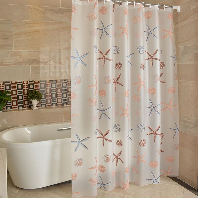 PEVA 3d Waterproof Shower Curtain Transparent White Clear Bathroom Luxury Bath With 12pcs Hooks in Shower Curtains from Home Garden