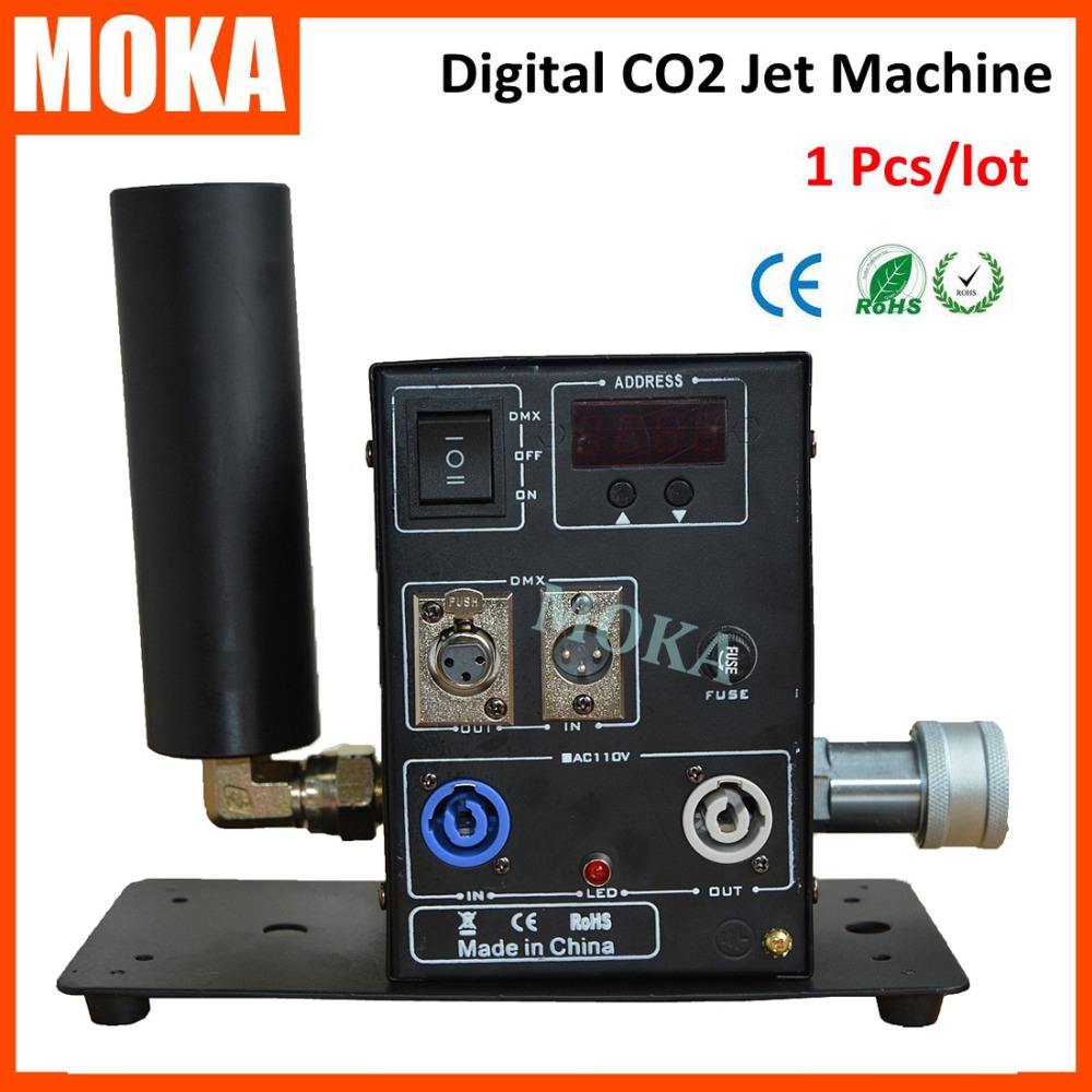 1 Pcs digital Single Pipe CO2 Machine Jet  Stage Effect Co2 Jet Machine Cryo Cannon DMX Jet Blasters for Disco Club Dancing Hall