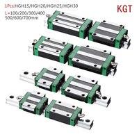 KGT HGH15 HGH20 HGH25 HGH30 L 100 200 300 400 500 600 800mm schwere linear schiene rutsche 1pc HG15 linear guide 1pc HGH15 wagen CNC