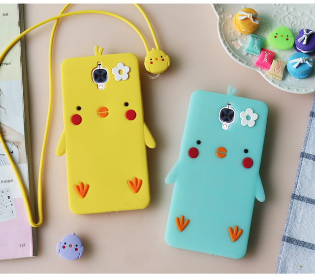 new concept b61dc bece0 US $7.19 20% OFF|Cute duck feet Oneplus 3T soft Case, yellow chicken  Silicone back phone cover for Oneplus 3 T/ Oneplus 3/ Oneplus3 cases  rope-in ...