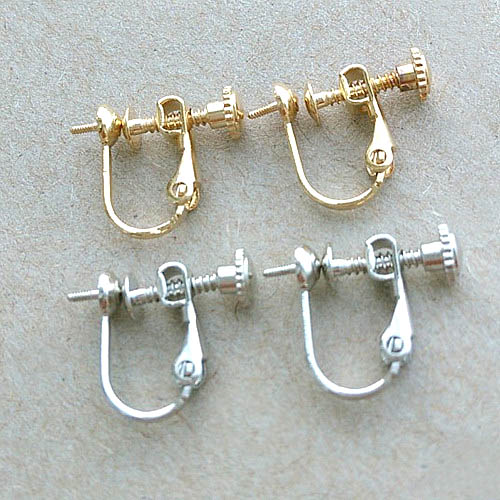 Screw Clip Earring Converter For Non Pierced Ears 4mm Circle Bezel